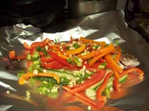 Escovitch Fish Recipe ready for the Oven