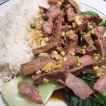 Asian beef with pak choi