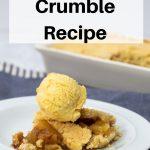 Basic apple crumble recipe pin image