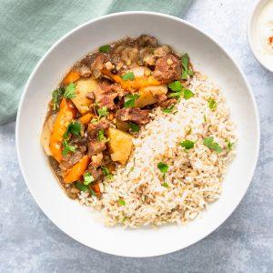 Bangladeshi beef stew in a bowl
