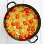 Greek Lemon Chicken in the pan