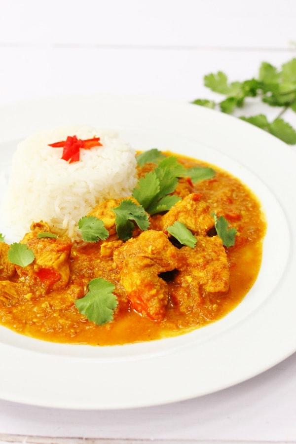 Homemade Burmese chicken curry