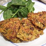 Sweet potato and black bean patties with spinach