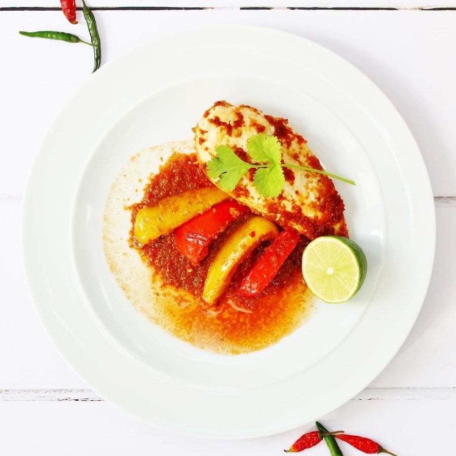 Piri Piri Chicken on a plate
