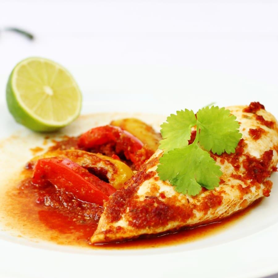 Plate of Piri Piri Chicken