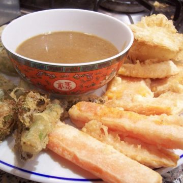 Mixed vegetable tempura recipe