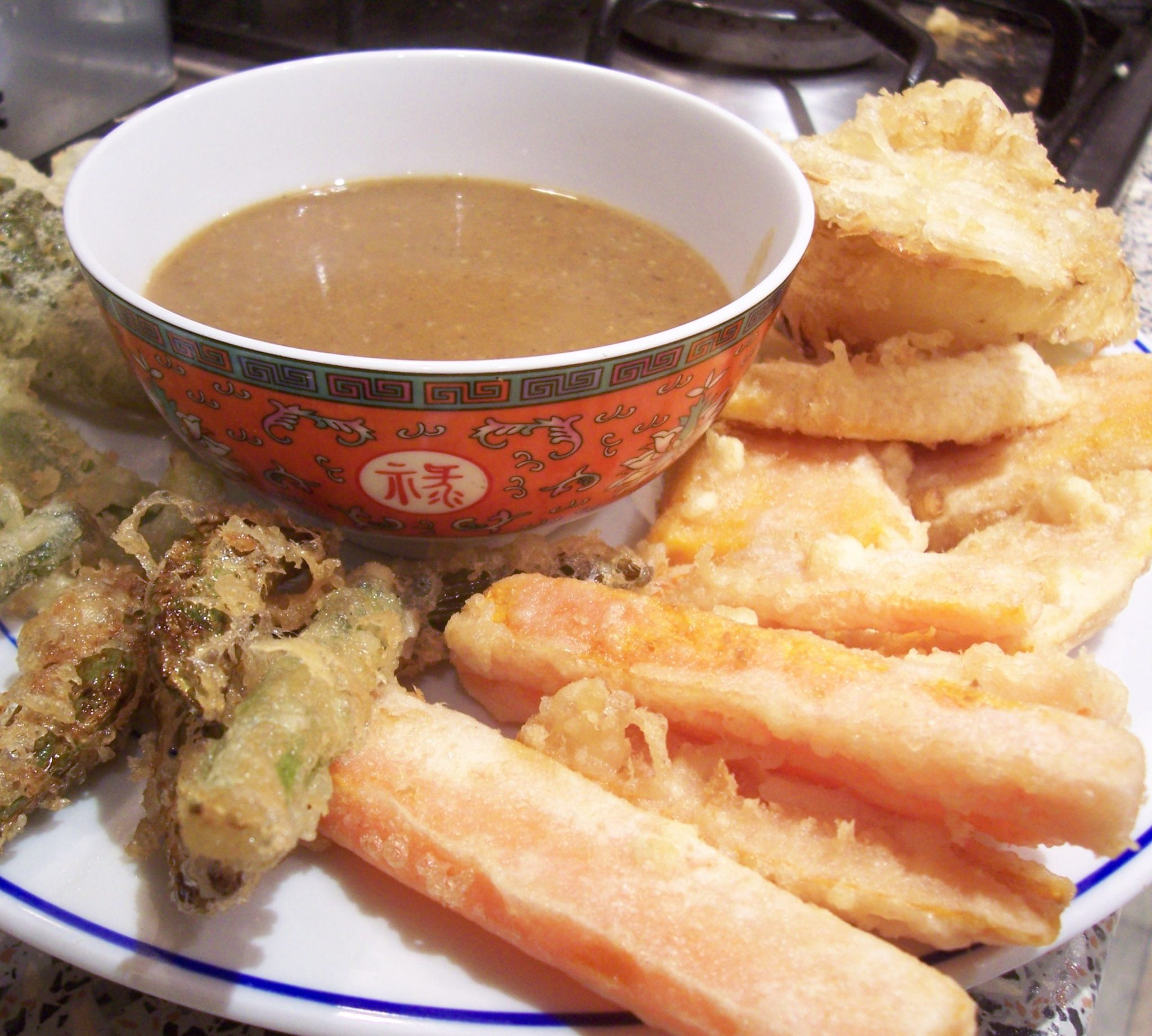 Mixed vegetable tempura recipe