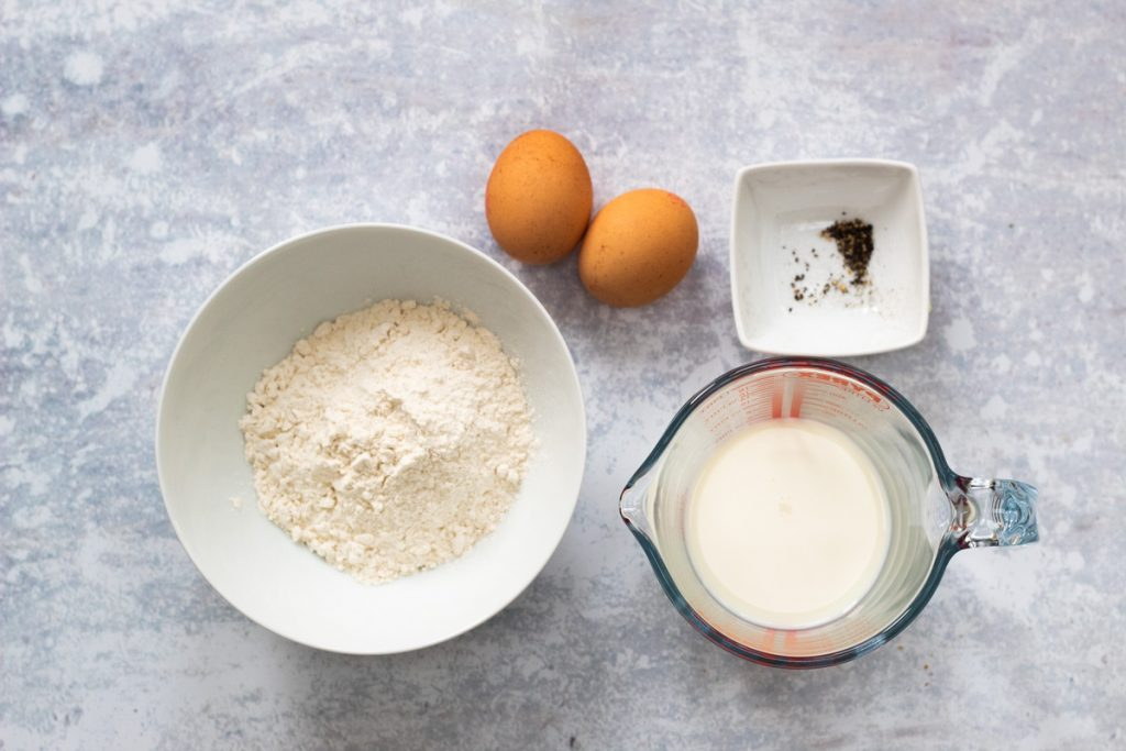 Ingredients for Yorkshire puddings