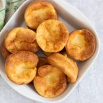 Yorkshire puddings in a bowl