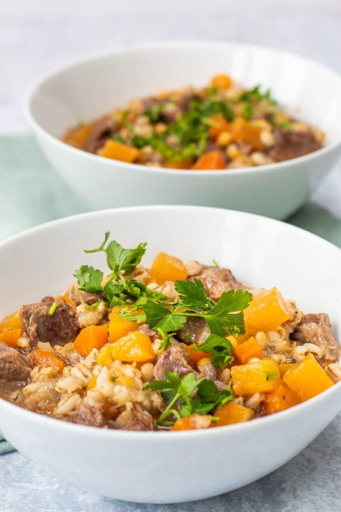 two bowls of scotch broth