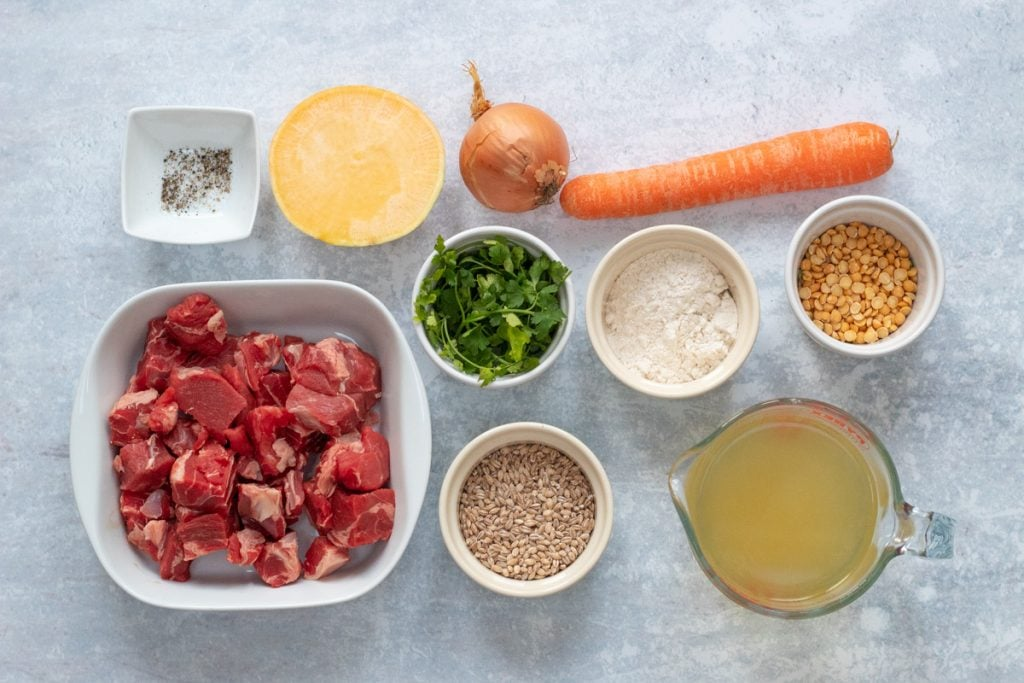 Ingredients for Scotch broth