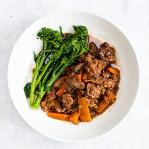 Bowl of juniper beef stew