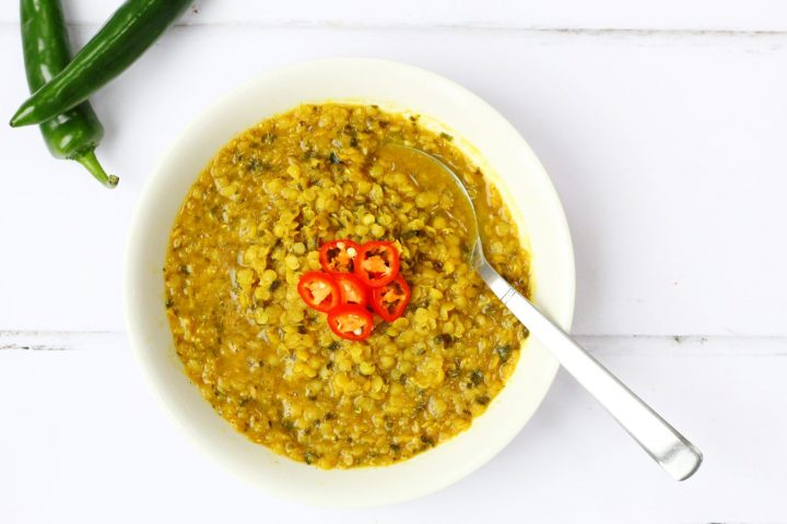 bowl of red lentil soup