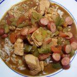 Chicken and smoked sausage gumbo