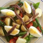 Potato egg anchovy salad