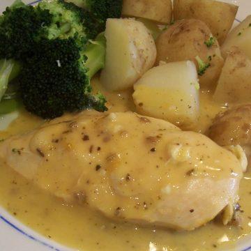 Chicken breasts in lemon sage sauce