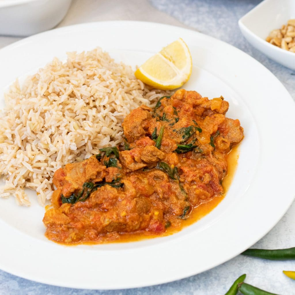 Afghan lamb stew with rice