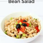 Tuna cannellini bean salad pin image