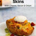 stuffed jacket potato skin pin image