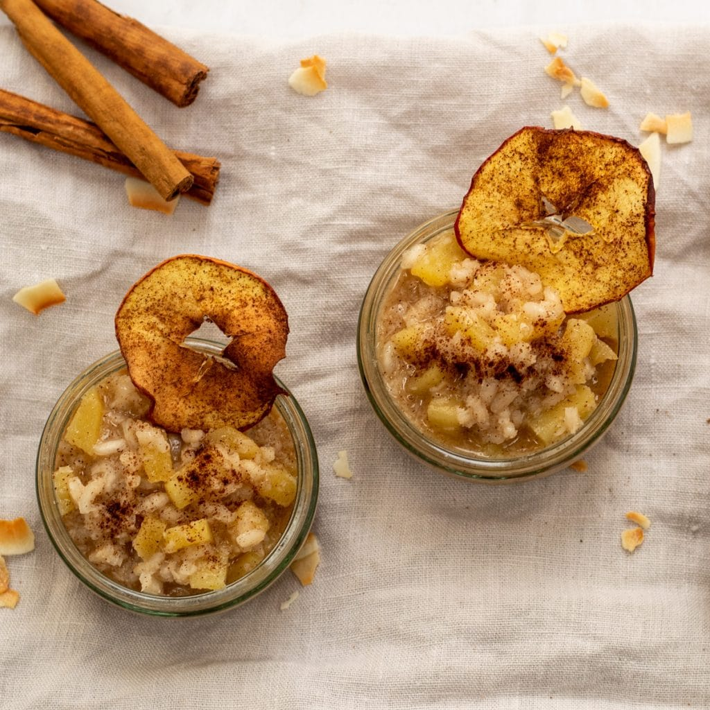 Apple Coconut rice pudding