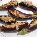 stuffed aubergine curry