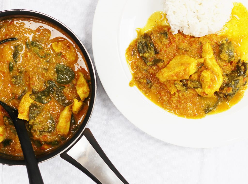 Chicken curry ready to eat