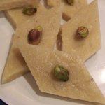 Indian cashew nut fudge - kaju katli