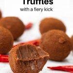 chilli chocolate truffles pin image