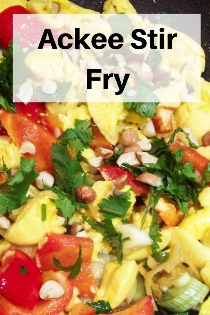 Ackee stir fry pin image