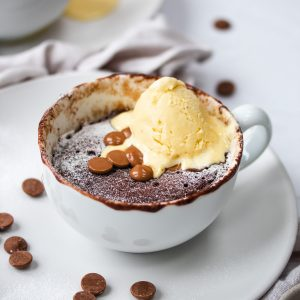 cup of chocolate microwave cake