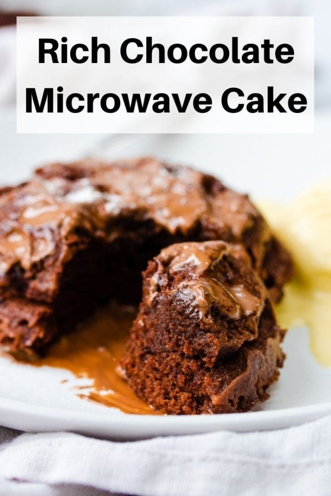 chocolate microwave cake pin image