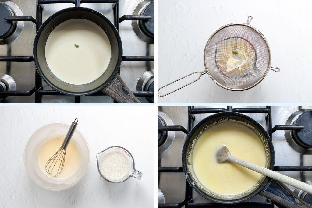 pistachio cardamom ice cream process shots 3