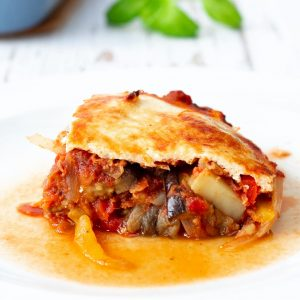 Vegetarian lentil moussaka inspired by Masterchef