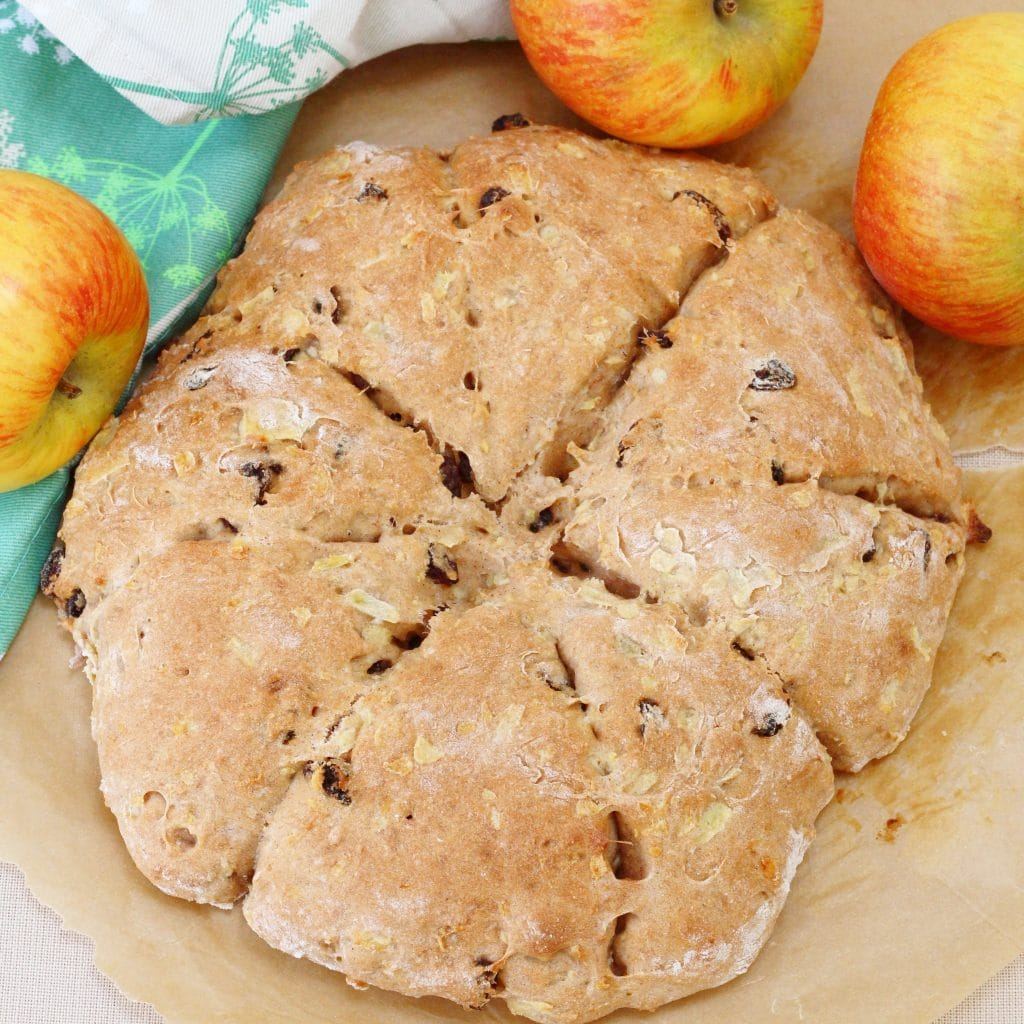 Homemade apple sultana and cinnamon scones