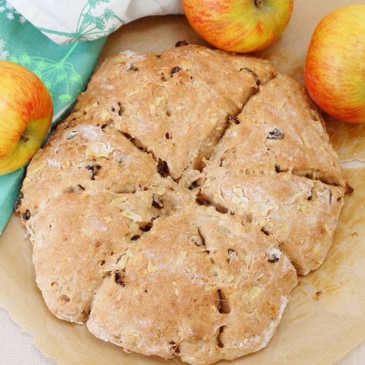 Homemade apple sultana and cinnamon scones