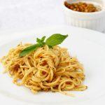Sun dried tomato pesto spaghetti