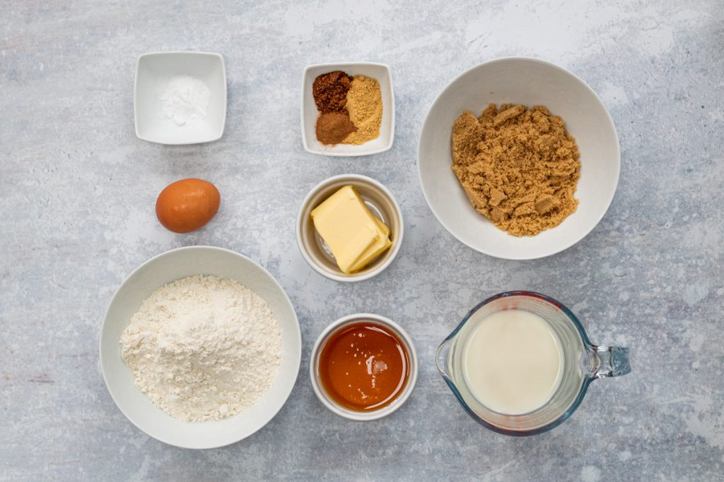 Ingredients for Ginger Cake