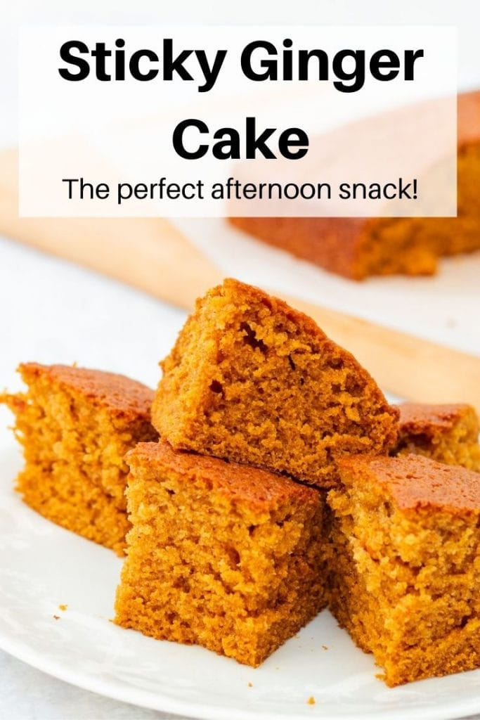 Sticky ginger cake pin image
