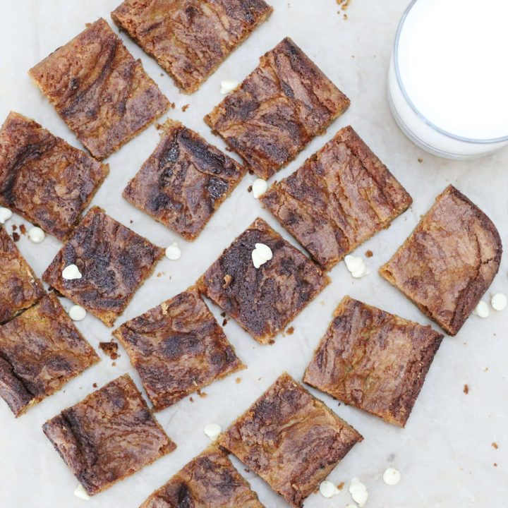 This is the best recipe if you want rich sweet chewy blondies. These blondies are my husband's favourite sweet treat.