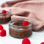 Chocolate raspberry dessert pots