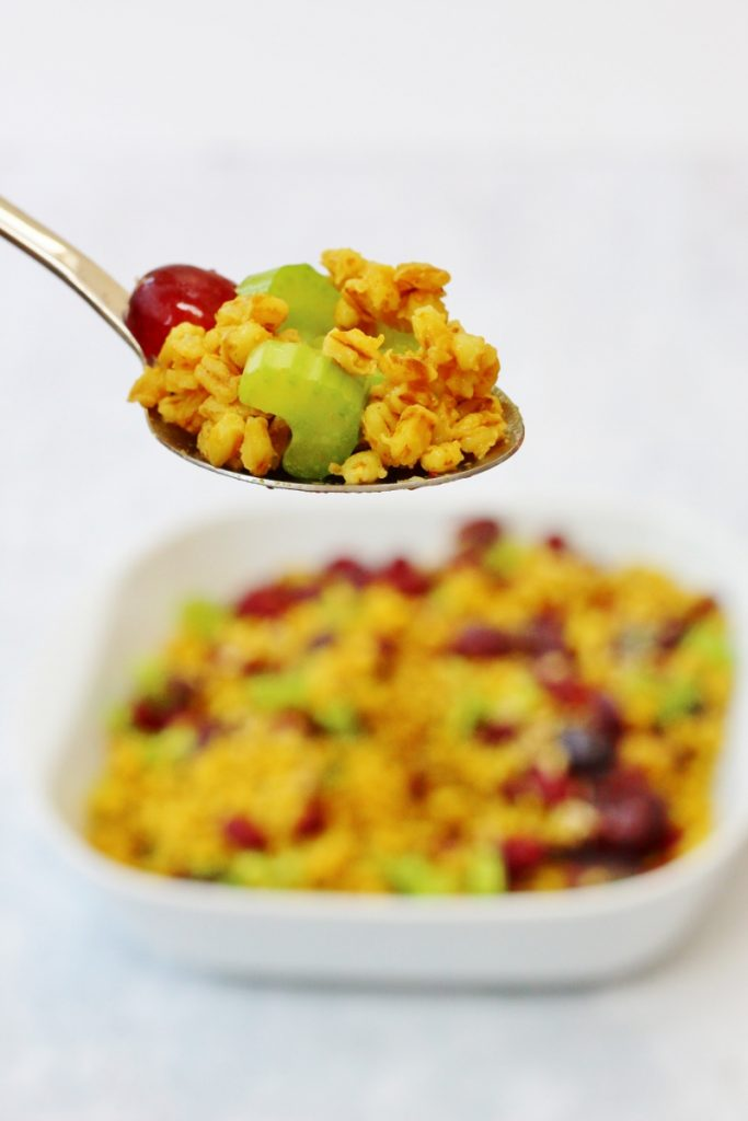 curried pearl barley salad side dish