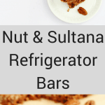nut and sultana refrigerator bars pin image