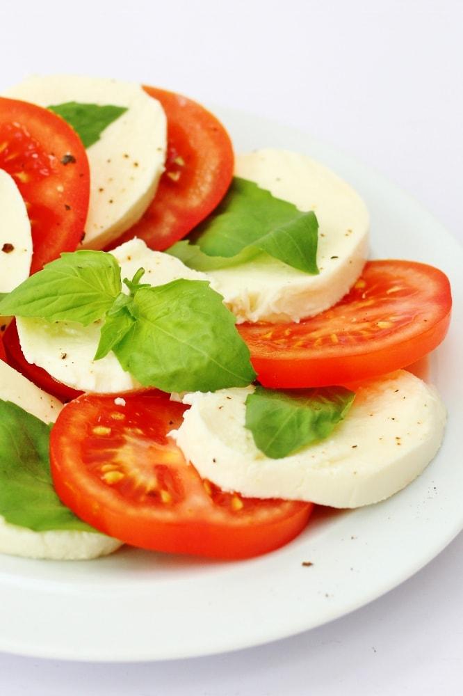 Caprese salad close up