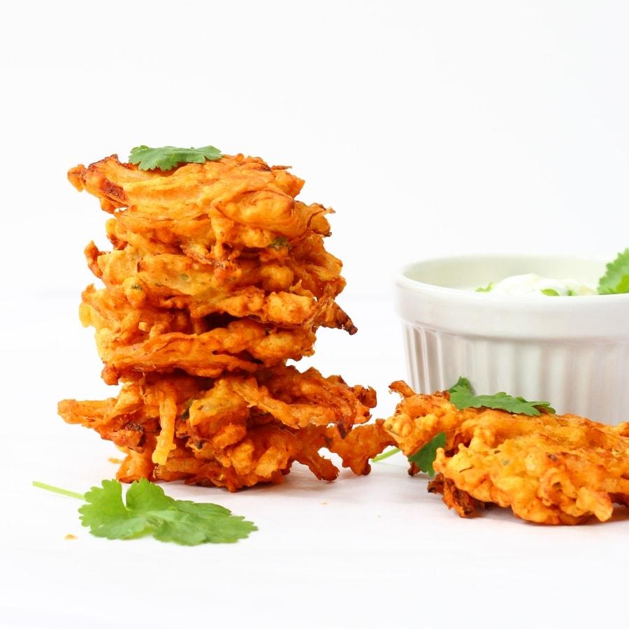 Easy onion bhajis recipe