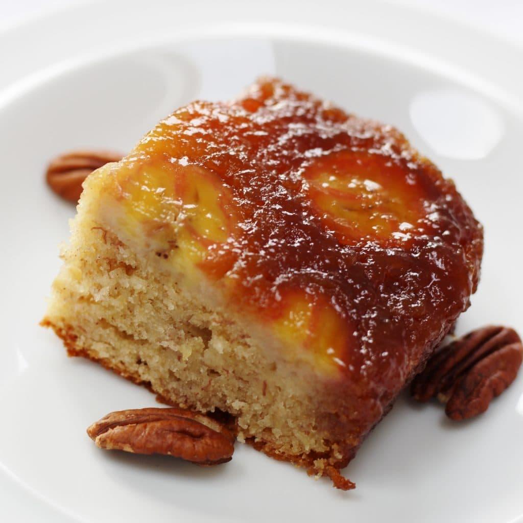 Caramelly Banana Upside Down Cake