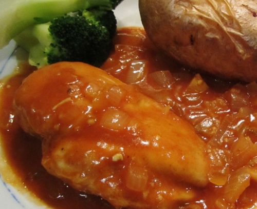 Chicken in Red Wine Vinegar Sauce - Searching for Spice