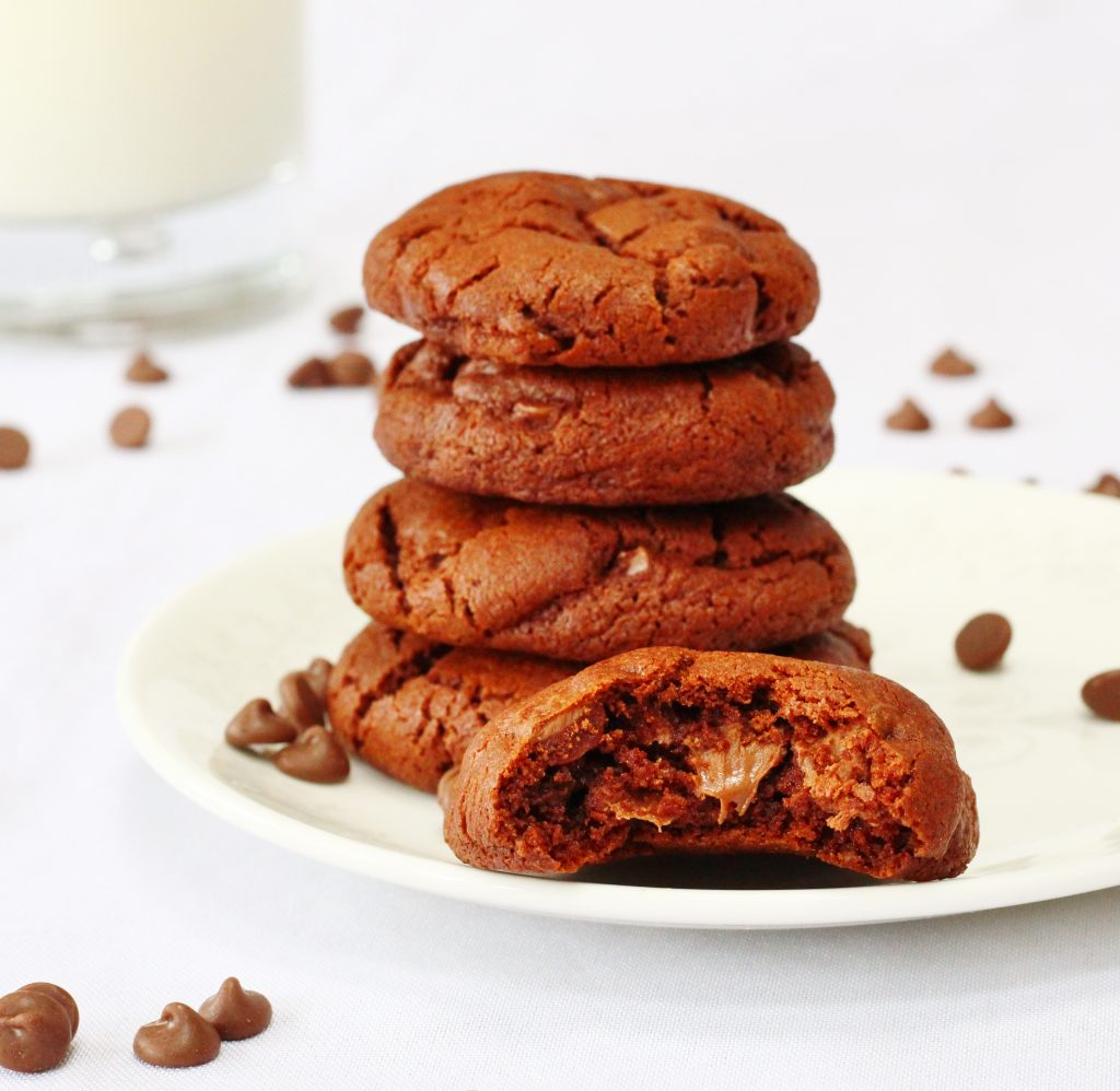 Best double chocolate chip cookies