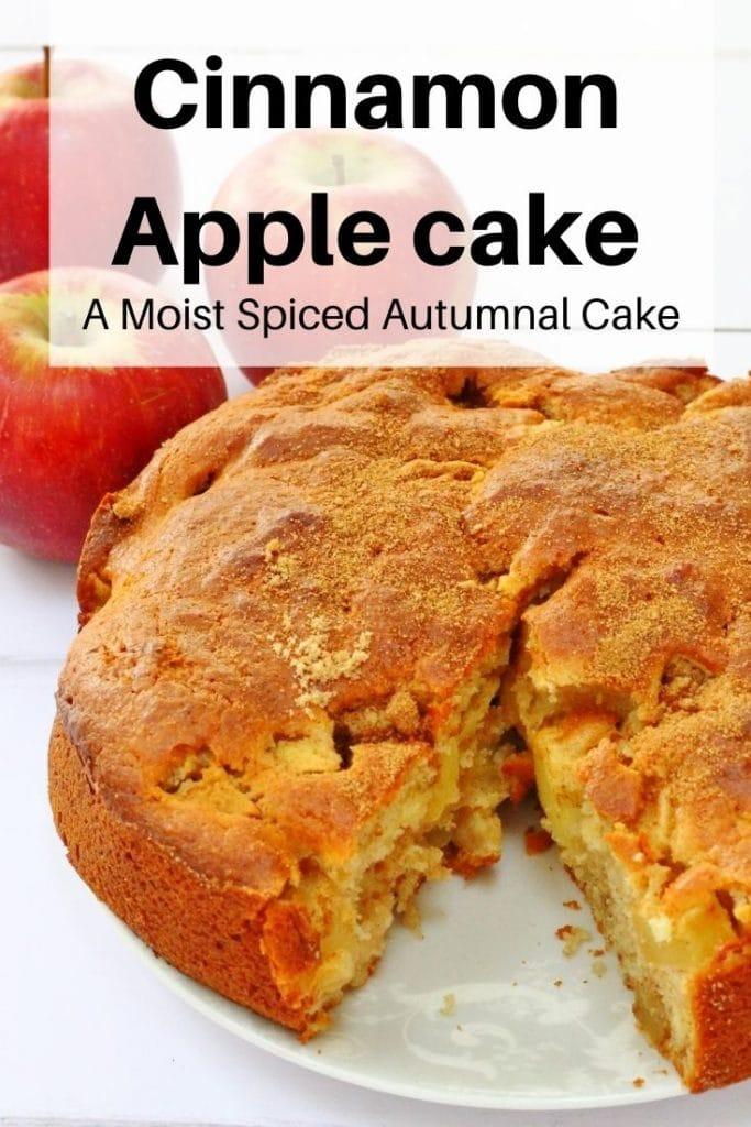 Cinnamon apple cake pin image