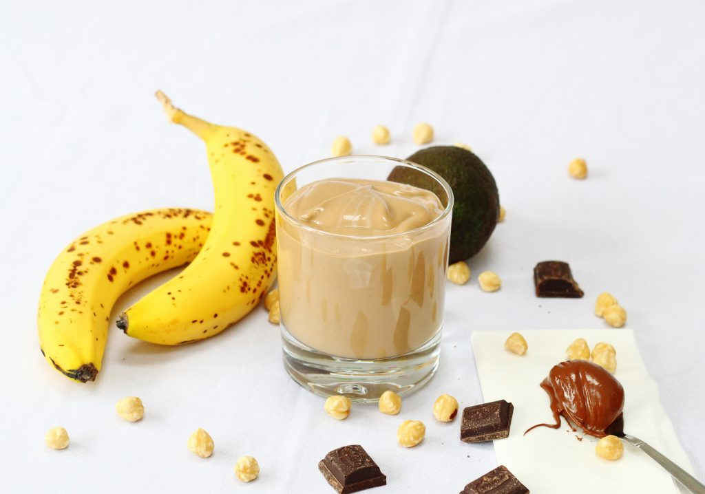 Banana avocado and Nutella smoothie