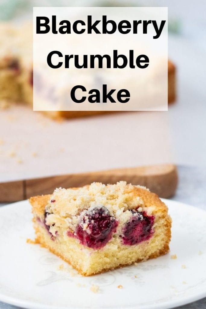 Blackberry crumble cake pin image
